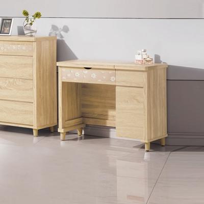 AS-伯奡3尺原切化妝桌椅組-91x46x77cm