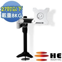 HE 27吋以下LED/LCD鋁合金雙懸臂插孔型支架(H210TI)
