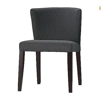 品家居 蜜拉亞麻布實木餐椅(二色可選)-52x60x78cm免組