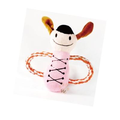 粉色快樂娃娃毛絨玩具 1入