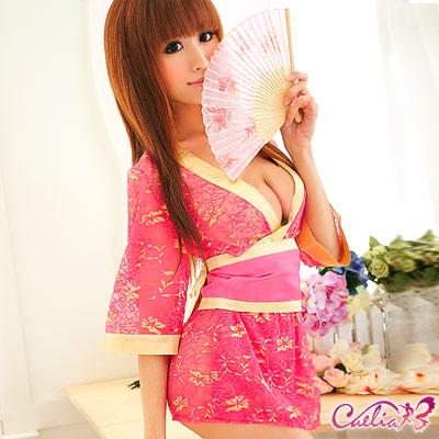 【Caelia】花舞愛戀!多情小女人和服三件組