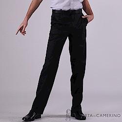 ROBERTA諾貝達 進口素材 台灣製 蠶絲條紋西裝褲 黑色