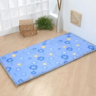 星辰 簡易單人床墊(藍幸運草)