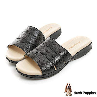 Hush Puppies HART 舒適減壓涼拖鞋-黑色