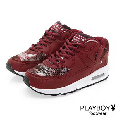PLAYBOY-玩酷宣言-渲染印花氣墊運動鞋-紅