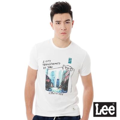 Lee  Regional圓領照片印刷短袖T恤-男款-白色