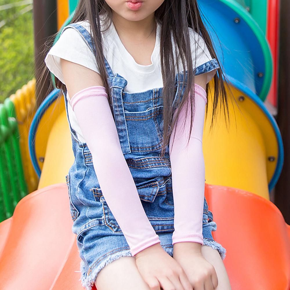 iSFun 純色涼感 兒童透氣防曬袖套襪套超值2雙入 product image 1