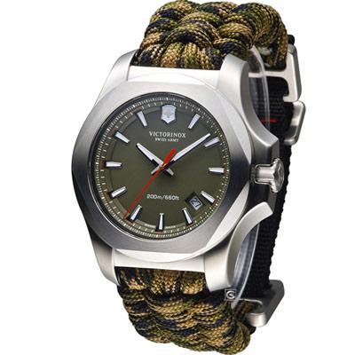 Victorinox 維氏 INOX Paracord 軍事標準專業腕錶-綠色/43mm