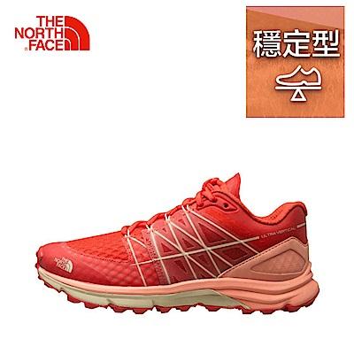 The North Face北面女款橘紅色吸濕排汗跑步鞋