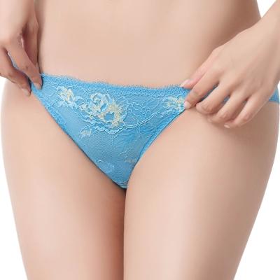 思薇爾 撩波系列M-XXL蕾絲低腰三角內褲(水瓶藍)