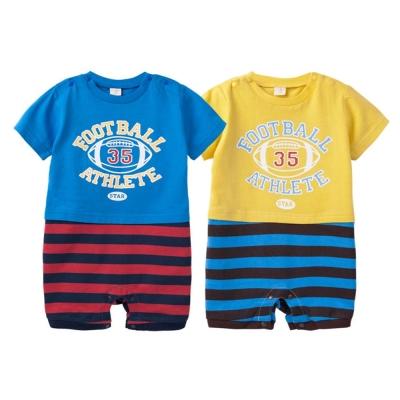 baby童衣包屁衣短袖連身衣橄欖球41133