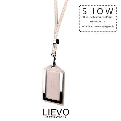 LIEVO-感應式證件套/100%天然縮花羊皮 台灣製造/SW02