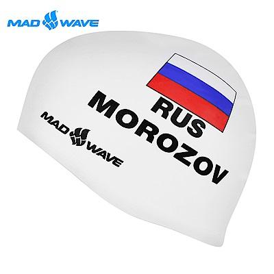 俄羅斯 邁俄威 成人矽膠泳帽 MADWAVE MOROZOV-WHITE