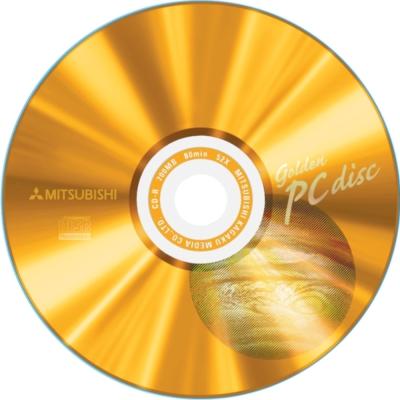 三菱CD-R 52x 80min 地球金白金100片