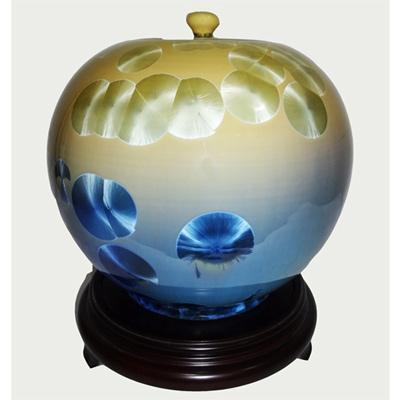 ☆開運陶源☆8 inch聚寶盆 圓滿甕 聚寶罐 結晶釉瓷器