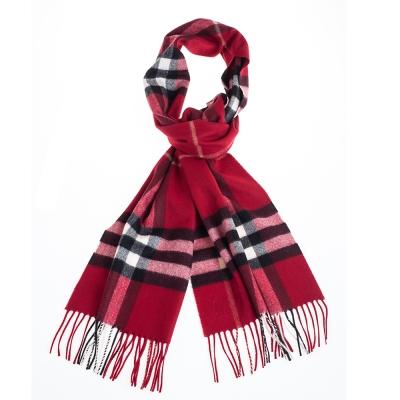BURBERRY 經典格紋喀什米爾圍巾 168*30/鮮紅色