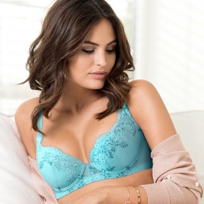 黛安芬-超值美選Bra B-E罩杯內衣(棕櫚藍)