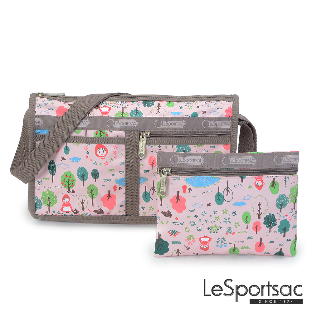 LeSportsac - Standard雙口袋斜背包-附化妝包(童話森林)