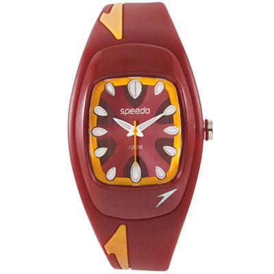Speedo 狂熱天堂休閒腕錶-紅/38mm