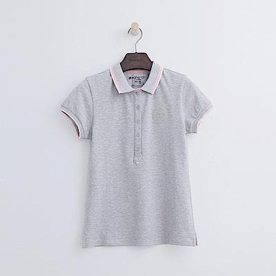 Hang Ten - 女裝 - 學院標章POLO-灰色