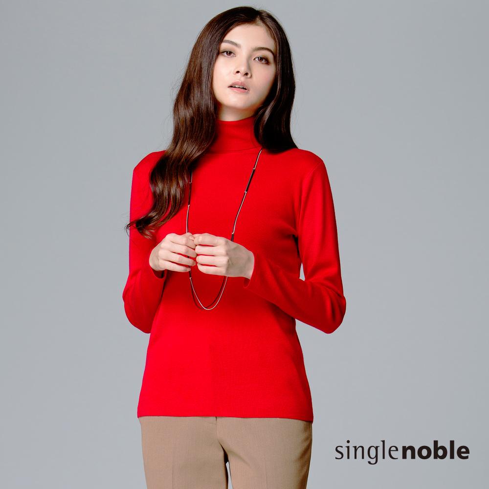 獨身貴族 復古感秋色高領針織衫(3色)
