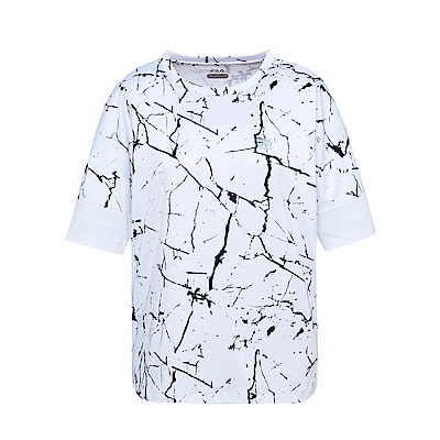 FILA 女抗UV吸濕排汗T恤-白5TES-1314-WT