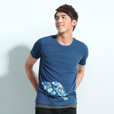 101原創 大象T恤上衣-礦藍