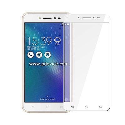 【贈氣墊殼】ASUS Zenfone LIVE ZB501KL全膠滿版鋼化日規玻璃貼-白