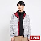 EDWIN 冒險旅行雙面穿防風外套-男-麻灰