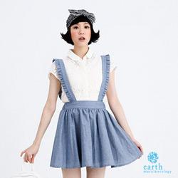 earth music&ecology 花邊吊帶丹寧