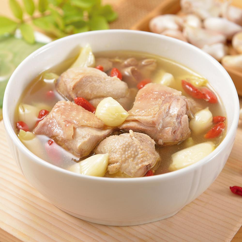 (任選)艾其肯養生雞湯 養生蒜頭雞湯(450g/包)