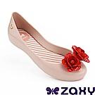 Zaxy 巴西 童花漾朵朵休閒娃娃鞋-粉色/紅色