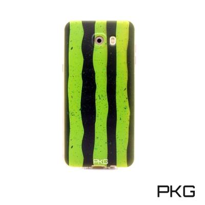 PKG SAMSUNG J7PRO 彩繪空壓氣囊保護殼-浮雕彩繪-西瓜手機殼