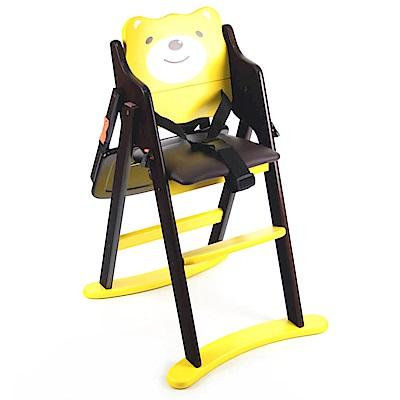 小熊造型折合木頭餐椅