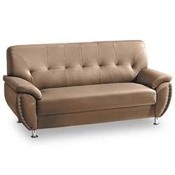 時尚屋 亞摩斯三人座卡其色沙發