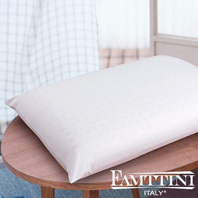 義大利Famttini 頂級平面透氣乳膠枕-2入