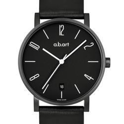 a.b.art O系列 當代德風極簡時尚腕錶-PVD黑 /40.5mm