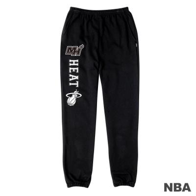 NBA-邁阿密熱火隊印花縮口綿長褲-黑色-女