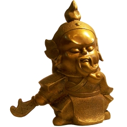 子問老師 限量原作銅雕 Q佛系列-兩大護法:伽藍/關公