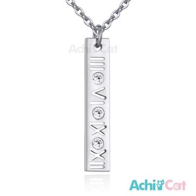 AchiCat 白鋼項鍊 愛戀時刻(銀色)