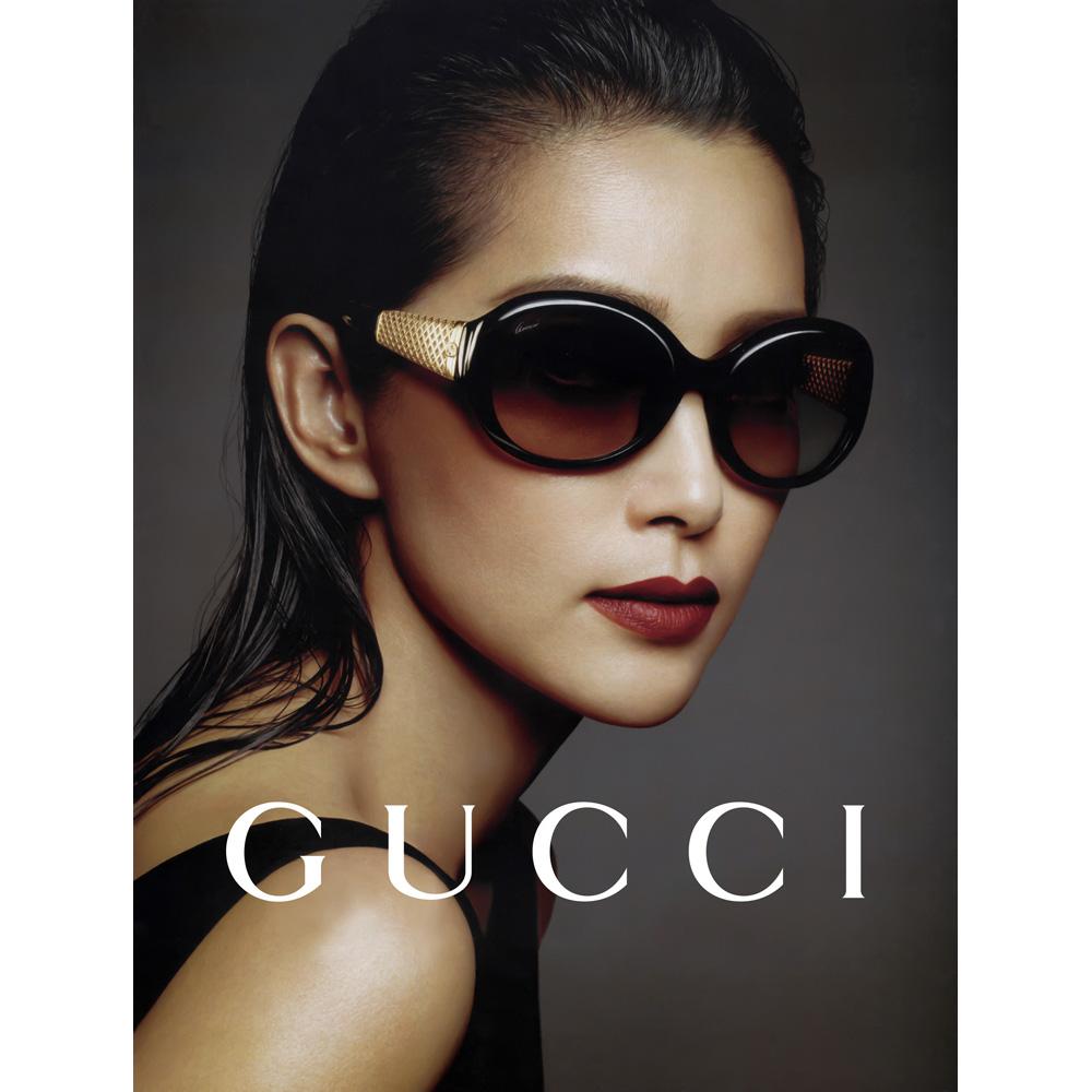 GUCCI- 奢華鍍金款 太陽眼鏡 (黑色)