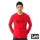 Lee 101+百搭耐看圓領長袖T恤-男款-紅色 product thumbnail 1