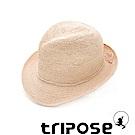 tripose 經典微旅-100%手工Raffia紳士遮陽草帽-單色-帽簷-5cm(自然色