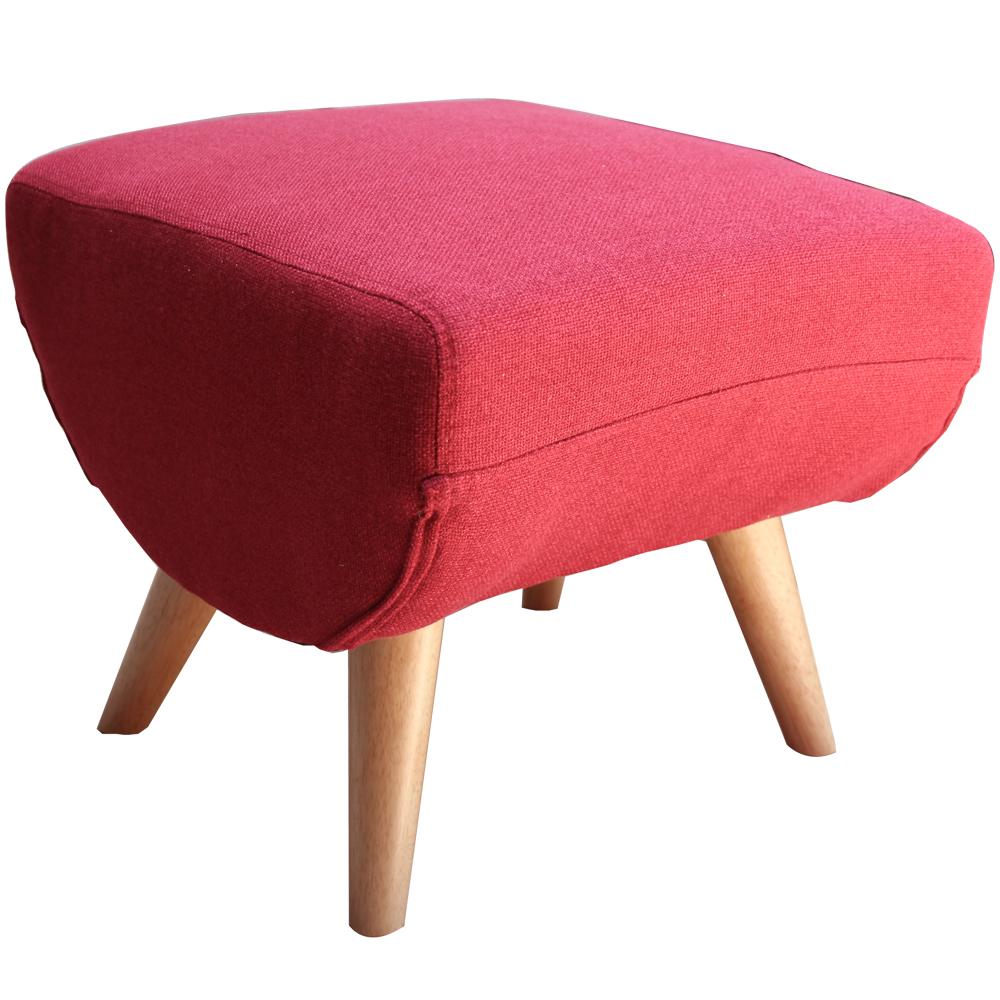 Lounge長秦 莫里森輕巧日式腳凳-紅色