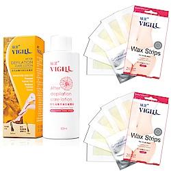 VIGILL 婦潔 杏白除毛貼片2盒組+除毛後專用美肌修護液(20片x2盒+修護液1瓶)