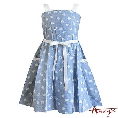 Annys甜美滿滿花朵可愛背心洋裝*8302藍