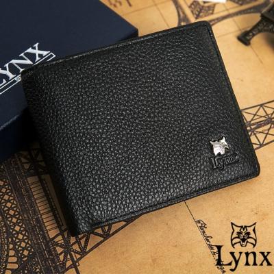 Lynx-山貓經典品牌風真皮款6卡2照上下翻不可拆
