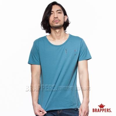 BRAPPERS 男款 美式風格圓領短袖上衣-藍