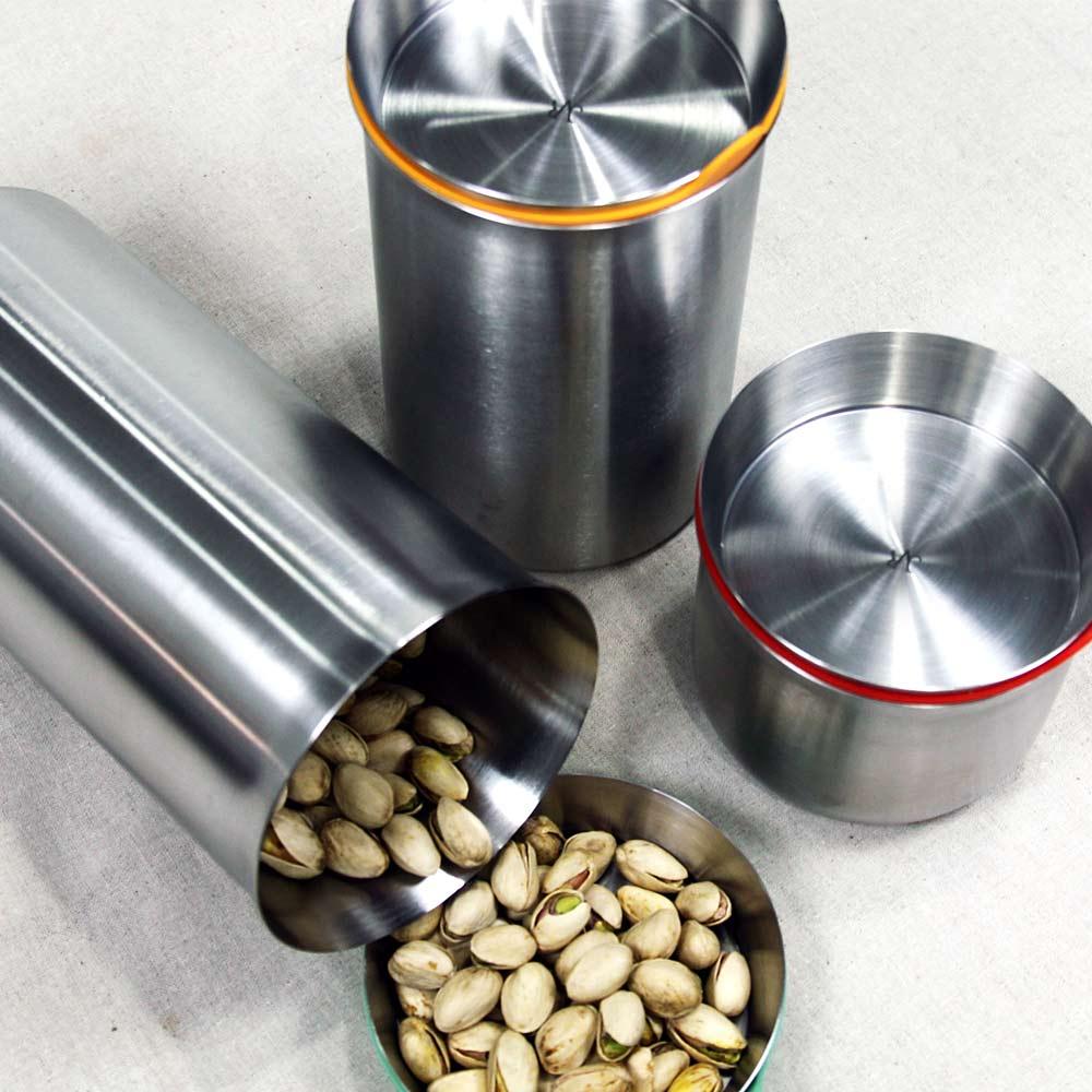 JVR 韓國原裝不銹鋼保鮮罐 1000ml(黃)