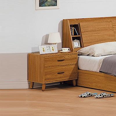 AS-拜倫1.8尺淺柚木床頭櫃-55.1x40x51cm